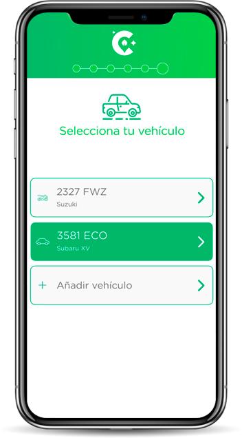 Cleander-app-pantalla-seleccion-vehiculo